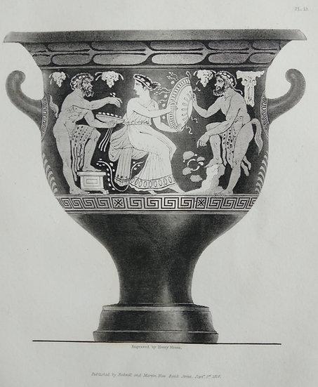 Mezzo Tint Printed circa. 1820 - Amphora Vase IV