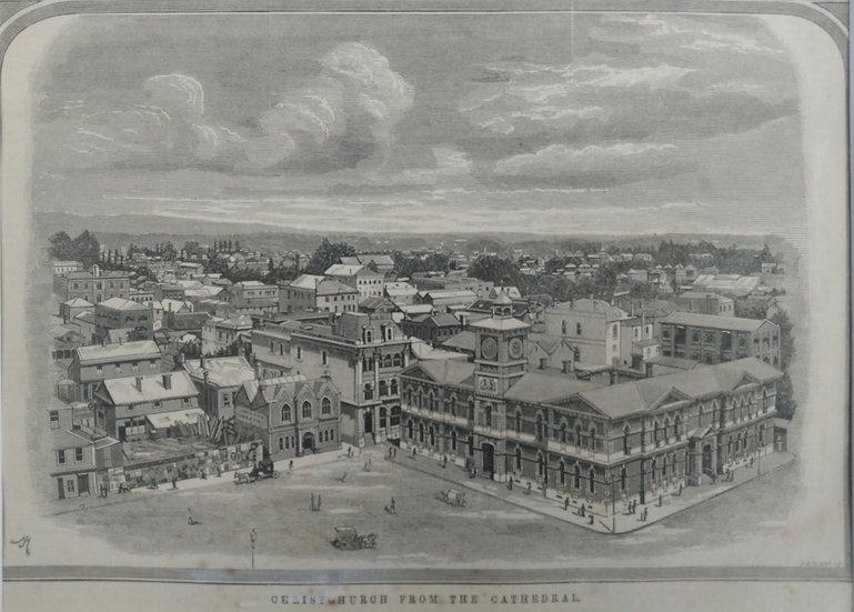 Christchurch - 19th C. Newspaper Prints