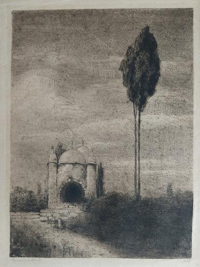 Hermann Struck Etching - Temple in Palestine