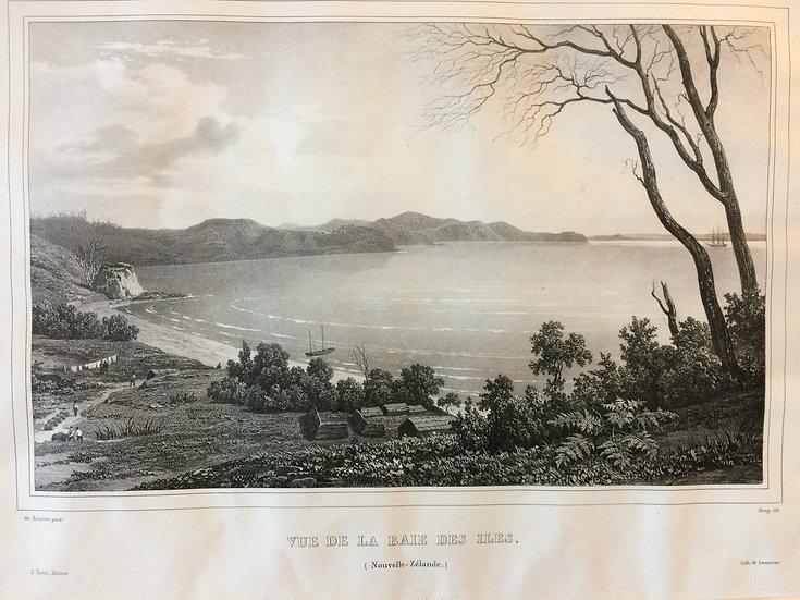 Voyage de l'Astrolabe - Vue de la Baie des Isles