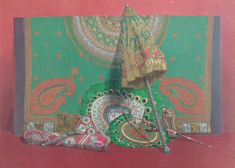 Chromolithograph - India Umbrella 1862 from World Fair Items