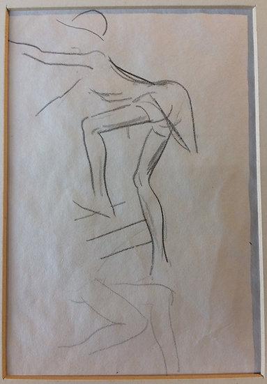 George Woods Original Sketch - Climber