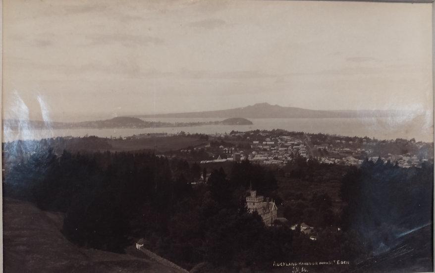 Photograph of Auckland Panorama. Circa 1895. Albumen print by Josiah Martin