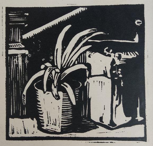 Still life - May Gilbert - Linocut C. 1940s
