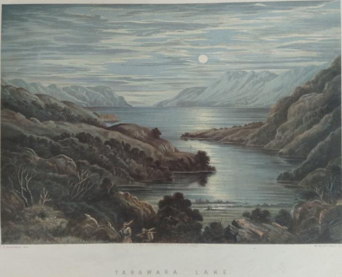 Tarawara Lake by C.D. Barraud Original Chromolithograph