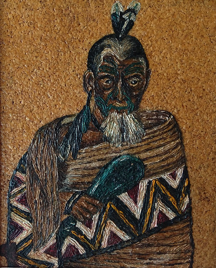 Oil on cork I Maori Study 1940s