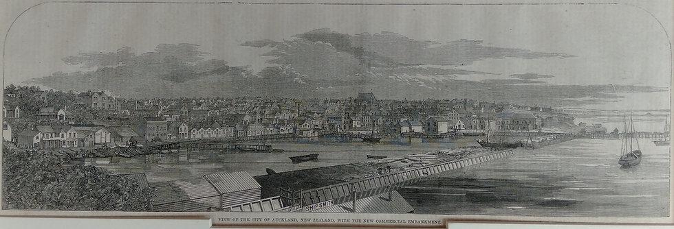 View of the City (Auckland)1860s - Original Wood Block Print