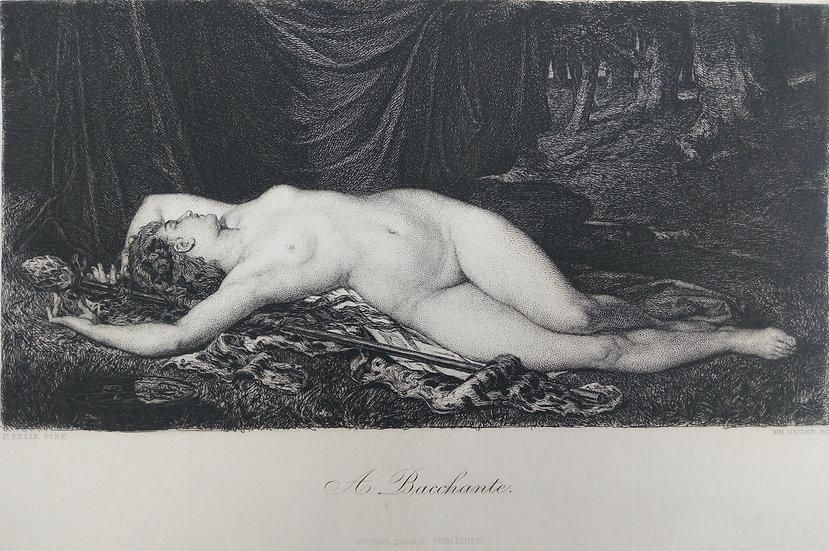 A Bachante - Engravings of Nudes C. 1870