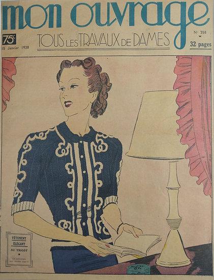 Vetememt Elegant - Original Art Deco Cover Offset Lithographs 1930s