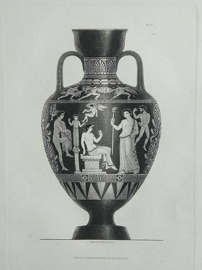Mezzo Tint Printed circa. 1820 - Amphora Vase I