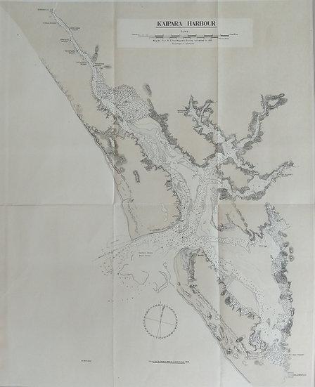 Kaipara Harbour 1907. Original Lithotint (rare)
