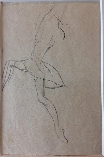 George Woods Original Sketch - Dancer