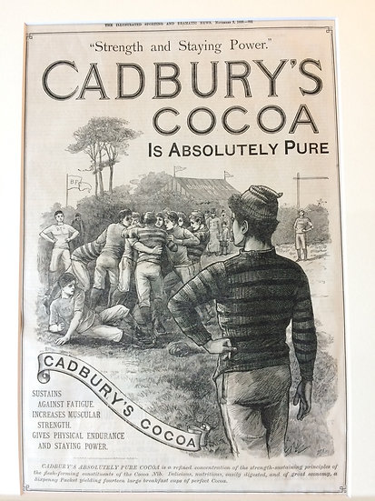 Cadbury's cocoa ad featuring rugby