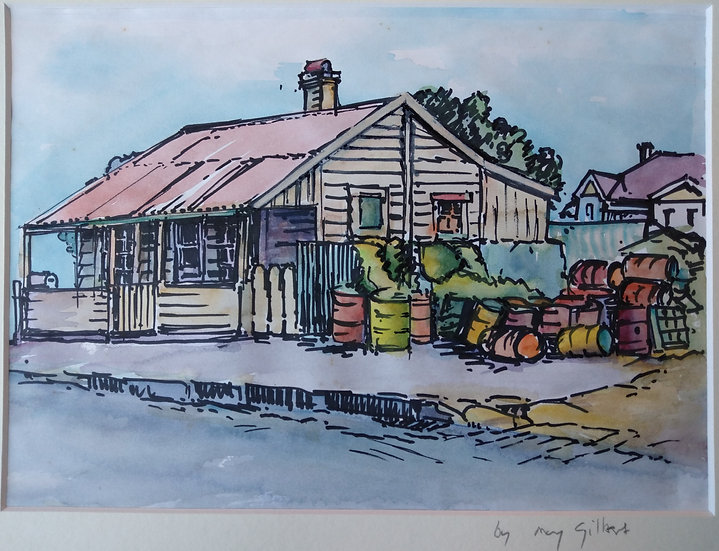 Old Auckland House Water Colour May Gilbert 1950s