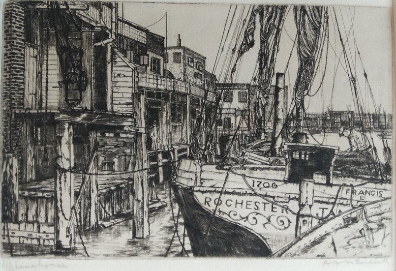 Rochester - A.H. McClintock Etching Circa 1925 (rare)