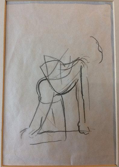 George Woods Original Sketch - Life Drawing