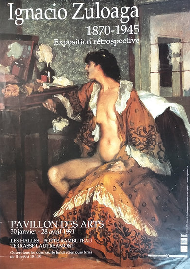 Ignacio Zauloaga - Pavillon des Arts 1991
