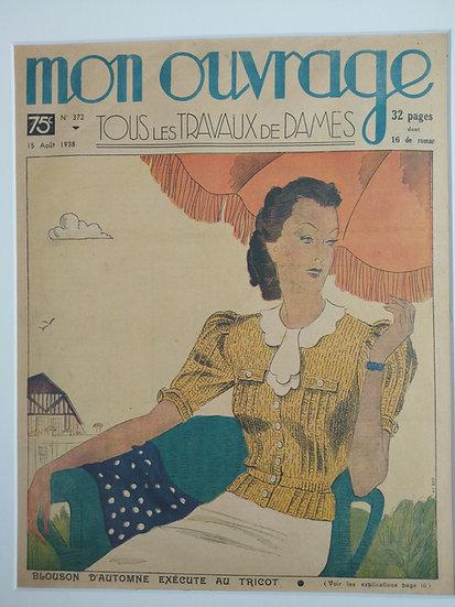 Blousom d'Automne - Original Art Deco Cover Offset Lithographs 1930s