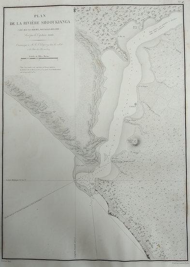 Plan of Hokianga Harbour 1824 Original Lithograph
