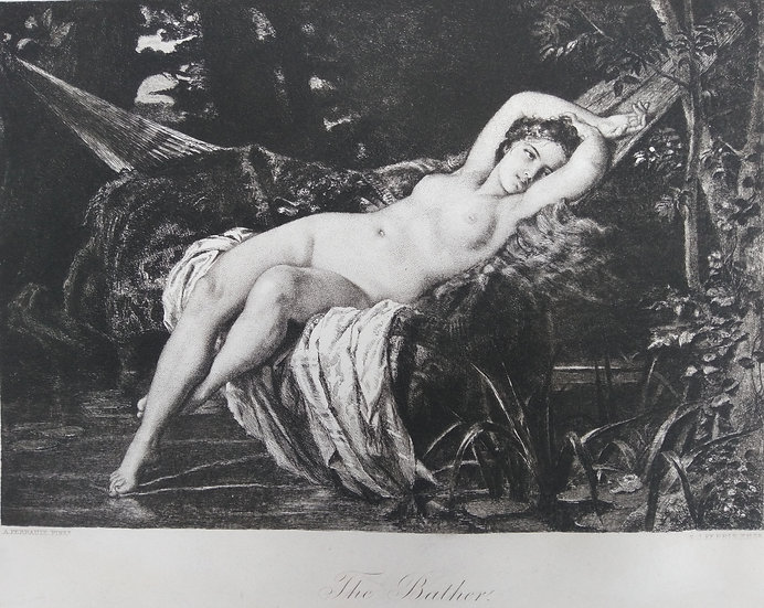 The Bather - Engravings of Nudes C. 1870