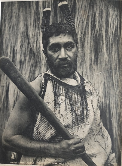 Tangata Maori by Spencer Christchurch. Platinotype Circa 1900