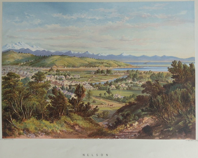 Nelson by C.D. Barraud Original Chromolithograph