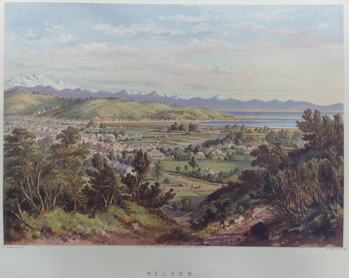 Nelson. Original Chromolithograph 1877 after painting by C.D. Baraud