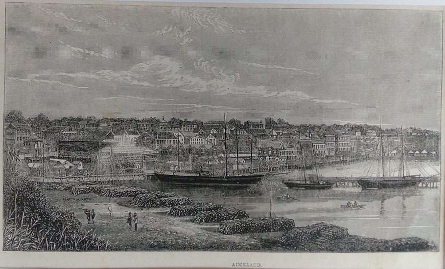 Auckland 1875 - Original Wood Block Print