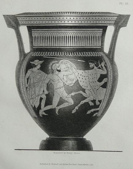 Mezzo Tint Printed circa. 1820 - Amphora Vase V