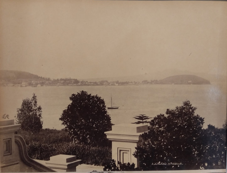 Photograph of Auckland Harbour from Parnell Circa 1895 by Burton Brothers