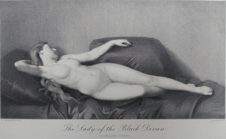 TheLady of the Black Divan - Engravings of Nudes C. 1870