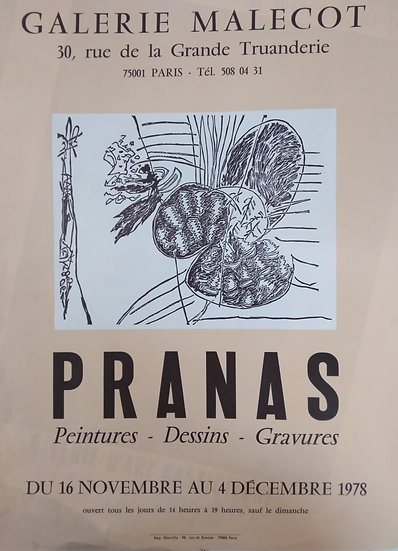 Pranas - Galerie Malecot 1978