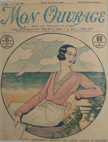 Elegante Blouse - Original Art Deco Cover Offset Lithographs 1930s