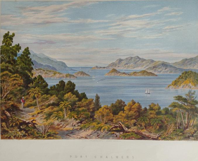 Port Chalmers by C.D. Barraud Original Chromolithograph