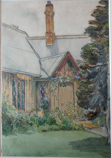 Water Colour Mary Gilber 1950s Parnell Church