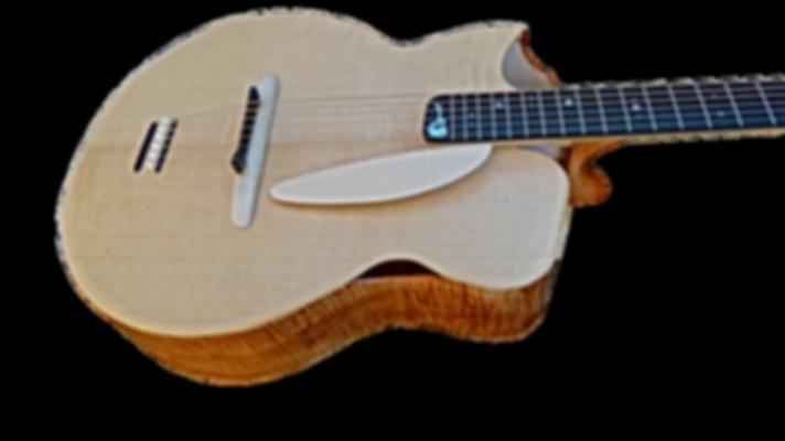 Guitare POWER Erable de Thierry RESTA Luthier guitares acoustiques