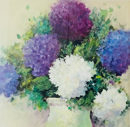 "54 ""Pot of Hydrangeas"" by Patricia Howell"