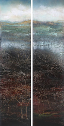 "72 ""Grose Valley Diptych"" by Penelope Oates"