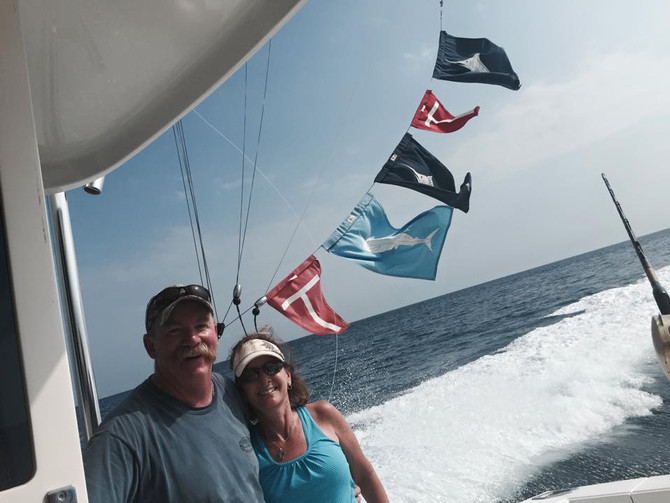 What a great day for Barton's! Caught the billfish slam today! Striped marlin spearfish and a bl