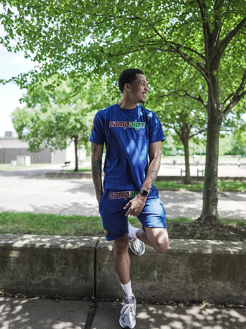 Chenille Shorts   Blue