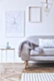 Minimalistic scandinavian white interior