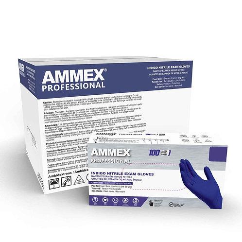 AMMEX Indigo Nitrile Exam Latex Free Disposable Gloves (Case of 1000)