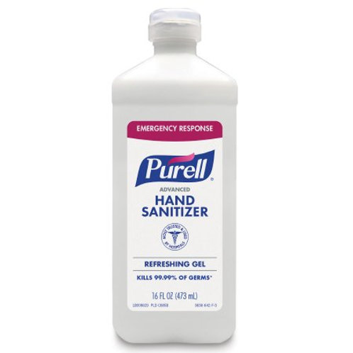 Hand Sanitizer Purell® Advanced 16 oz. Ethyl Alcohol Gel Bottle - 1 case