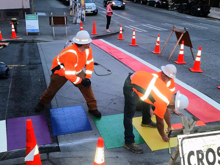 Stepping into Pride Month: Boystown's Rainbow Colored Crosswalks