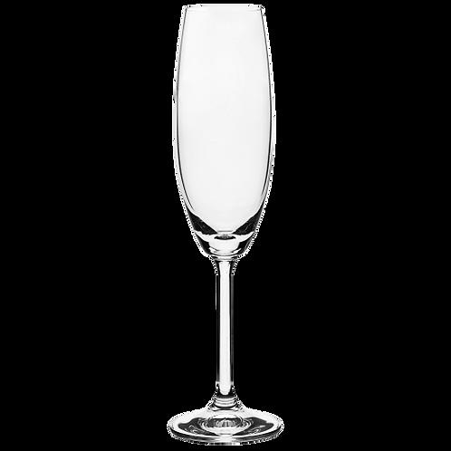 Caixa 06 un. Taça de Espumante em Cristal Bohemia 220ml