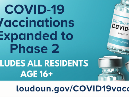 April Updates on Loudoun County COVID-19 Vaccine