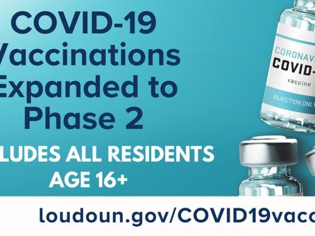 April Updates on Loudoun County COVID-19 Vaccine