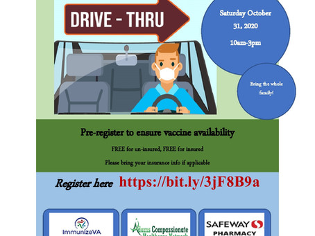 Free Drive Through Flu Clinic on October 31!
