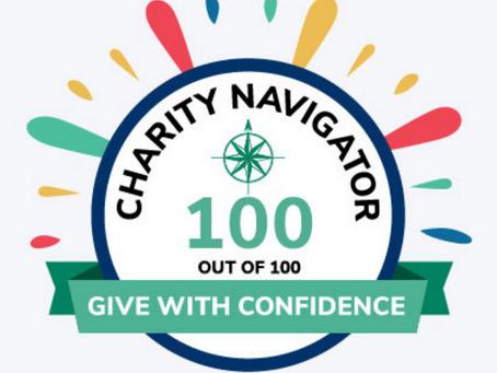 100/100 Rating - Charity Navigator