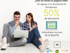 50% de descuento en pagina web